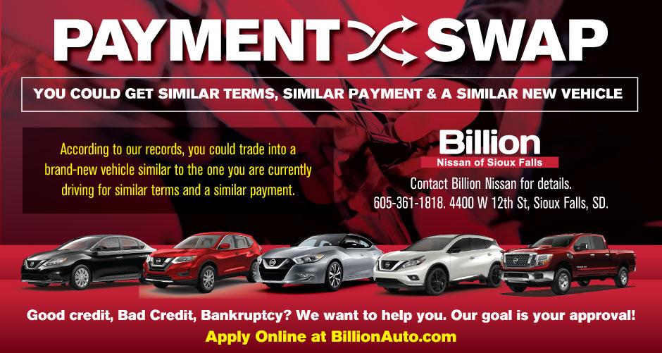 Sioux Falls Nissan Payment Swap Billion Auto