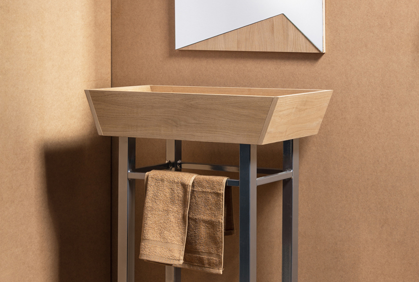cramped bathroom save space with this shower sink combo