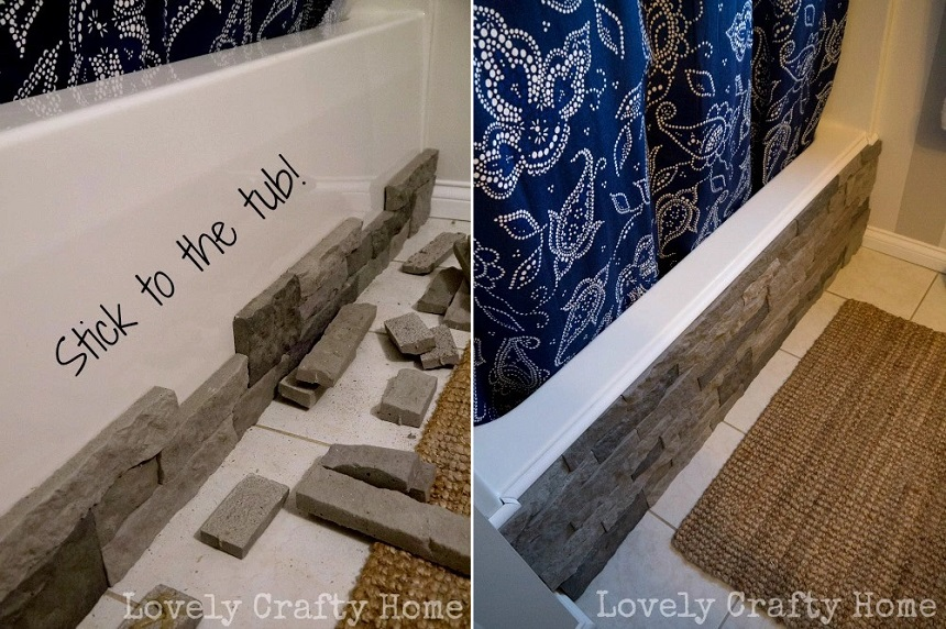 airstone bathtub hack bathroom upgrade