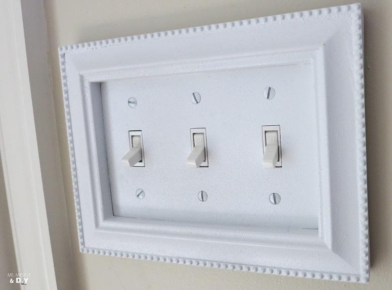 bathroom light switch frame