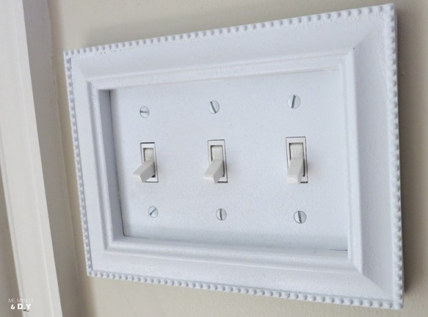 bathroom light switch frame