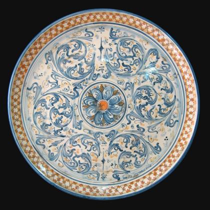 Ceramiche di caltagirone realizzate a mano secondo la più antica tradizione. Piatto Ornamentale In Ceramica Tipica Siciliana Art 10 Obx064b Ceramiche Artistiche Di Caltagirone