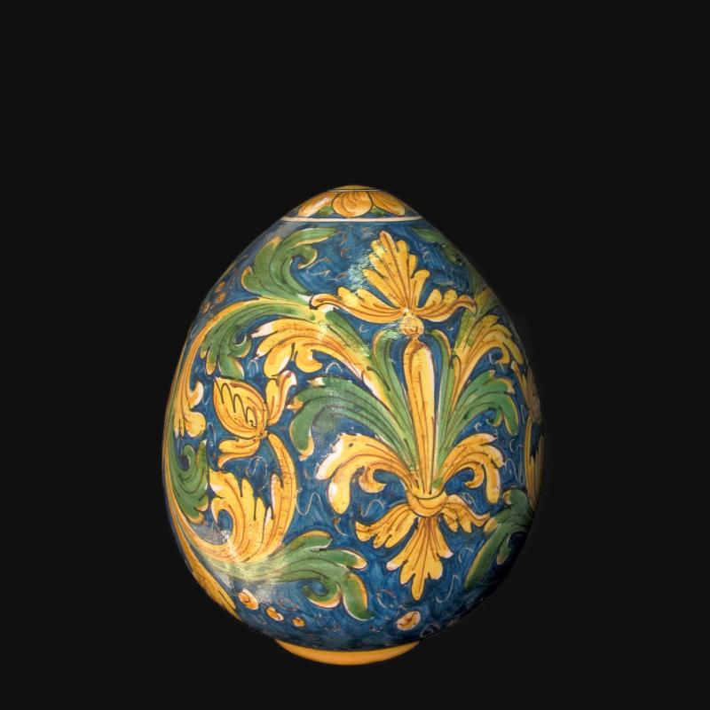È una delle più conosciute d'italia, nonché una delle più documentate e stilisticamente variegate. Uovo Ornamentale In Ceramica Artistica Siciliana Decorato A Mano