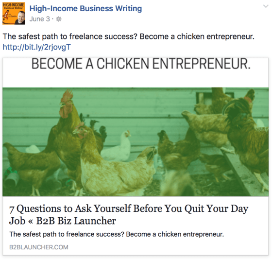FB business post example [image]