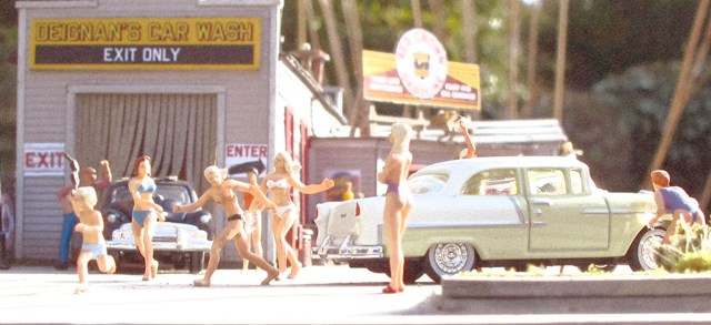 Bikini car wash faded photo
