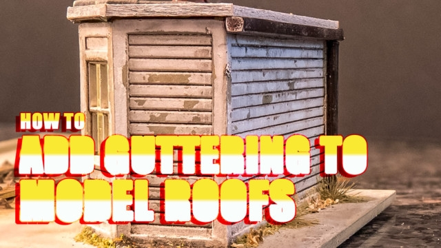 How to Add Guttering to Model Roofs