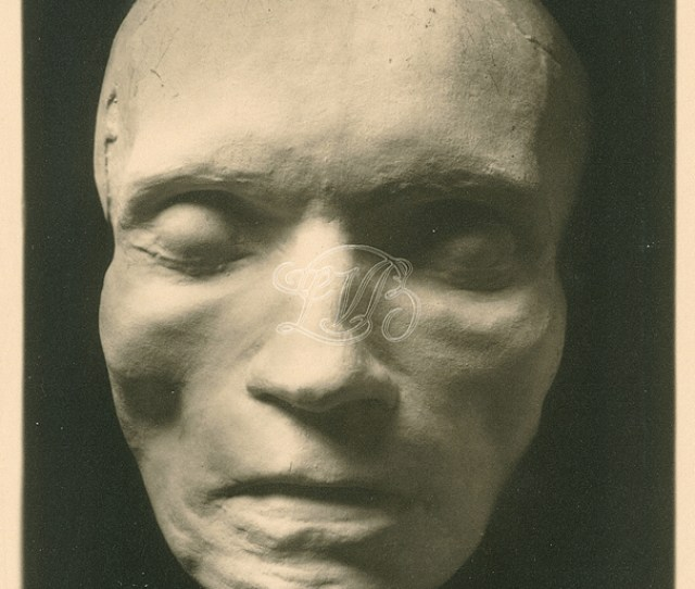Beethovens Death Mask Molded By The Painter And Sculptor Josef Danhauser On March 28 1827 Two Days After Beethovens Death
