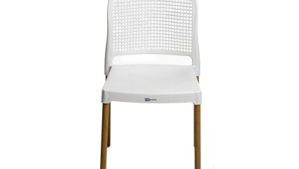 Cadeira Vintage Aluminio E Plastico Branca Ferreira Costa