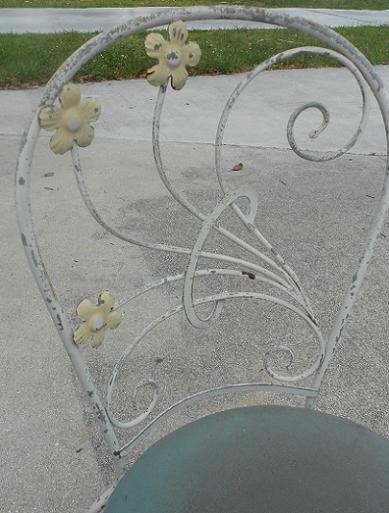 cute vintage wrought iron garden