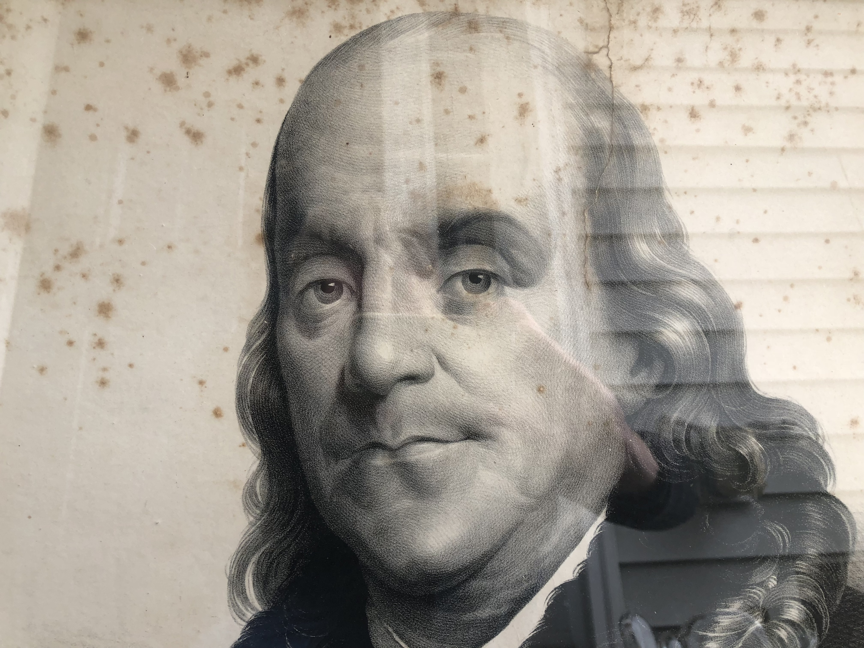 Benjamin Franklin Large Engraving Lithy Of M H Traubel