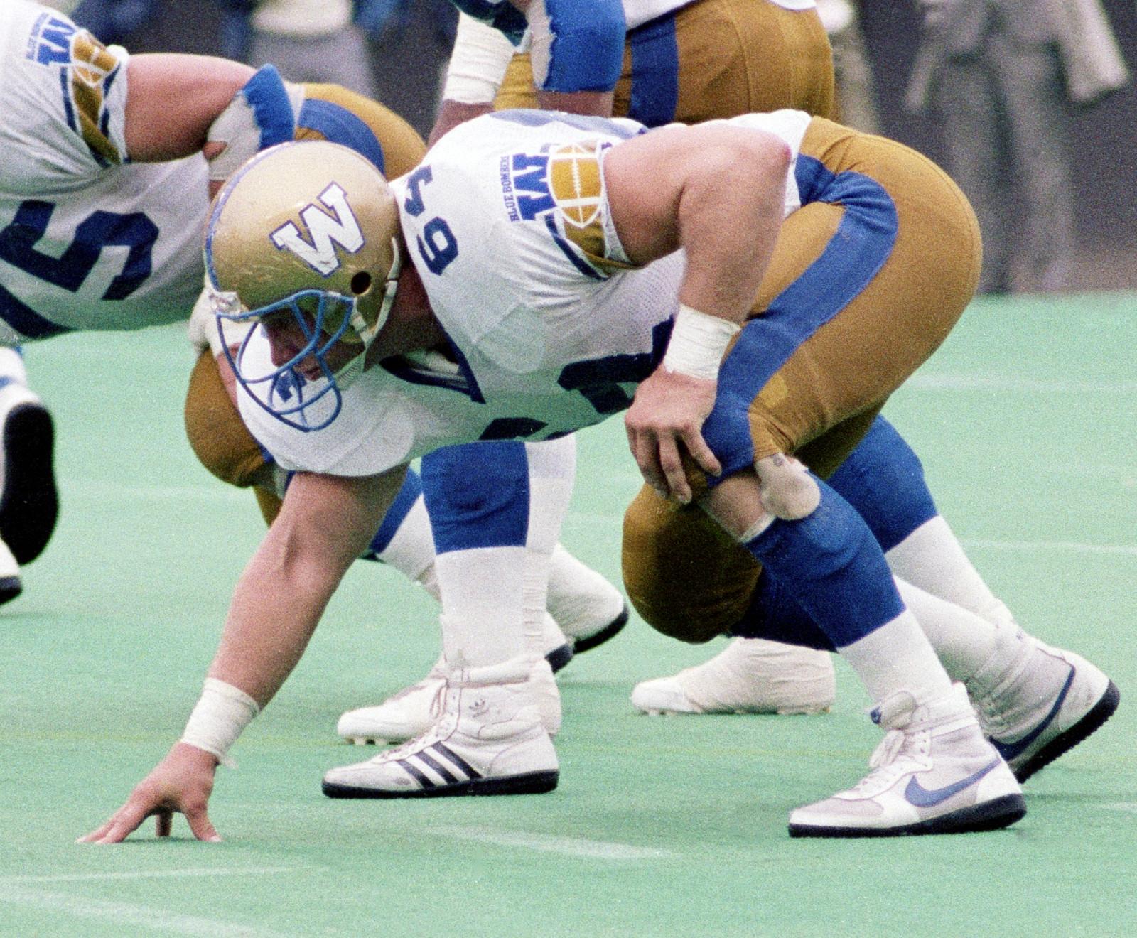 Bob Molle Winnipeg Blue Bombers 1987. Photo John Bradley