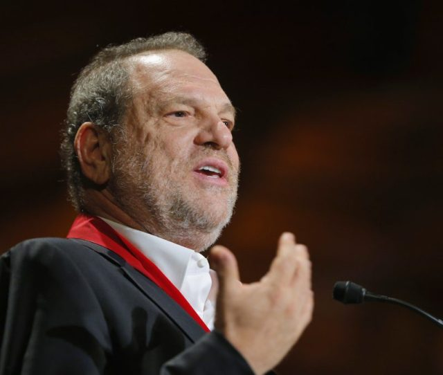 Producer Harvey Weinstein Accepts A W E B Du Bois Medal At The Hutchins Center Honors At Harvard
