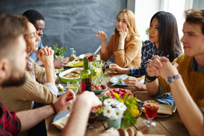 Nearly six out of 10 Americans said they dread the thought of anyone bringing up politics over this year's Thanksgiving dinner, according to a new poll from the PBS NewsHour, NPR and Marist. Photo by Getty Images