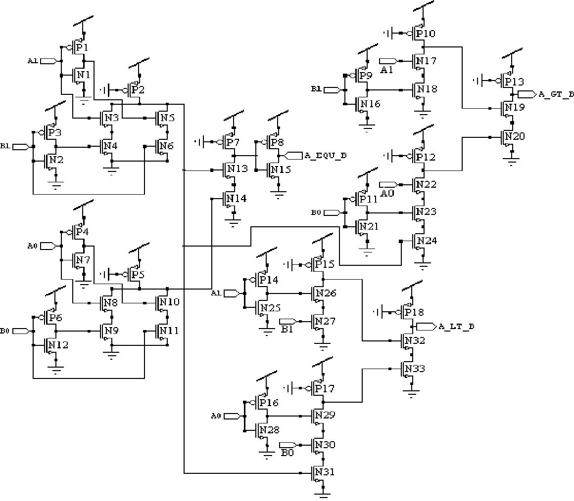 2 Bit Magnitude Comparator Design Using Different Logic