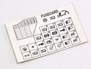 Dash Fuse Box Diagram Card 9810 VW Beetle  Genuine  1C0 010 232 K | eBay
