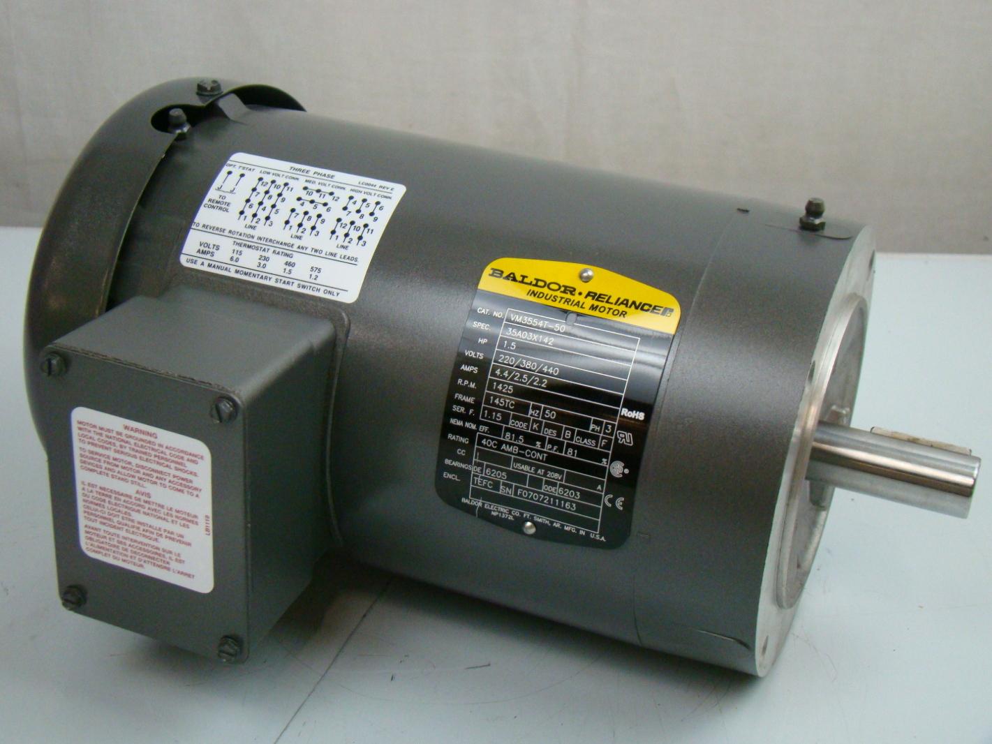 Baldor Reliance Industrial Motor Diagram 15 208 230v Trusted 2 Hp Wiring Nemetas