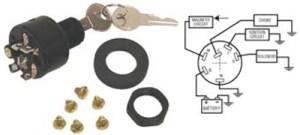 IGNITION SWITCH, 3POSITION PUSHTOCHOKEOffRunStart Switch, OMC #393301 | eBay