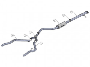 oem 2016 dodge dart exhaust systems
