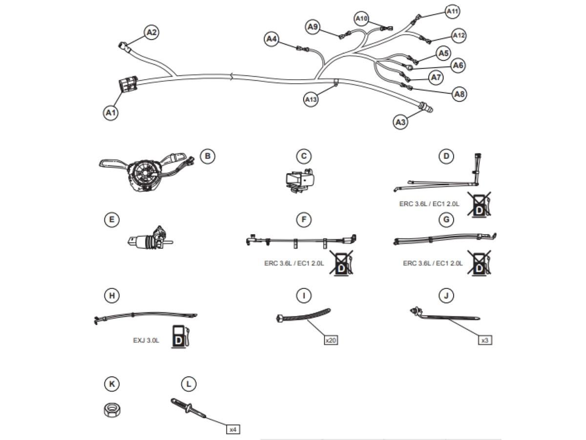 Genuine Mopar Hard Top Wiring Kit