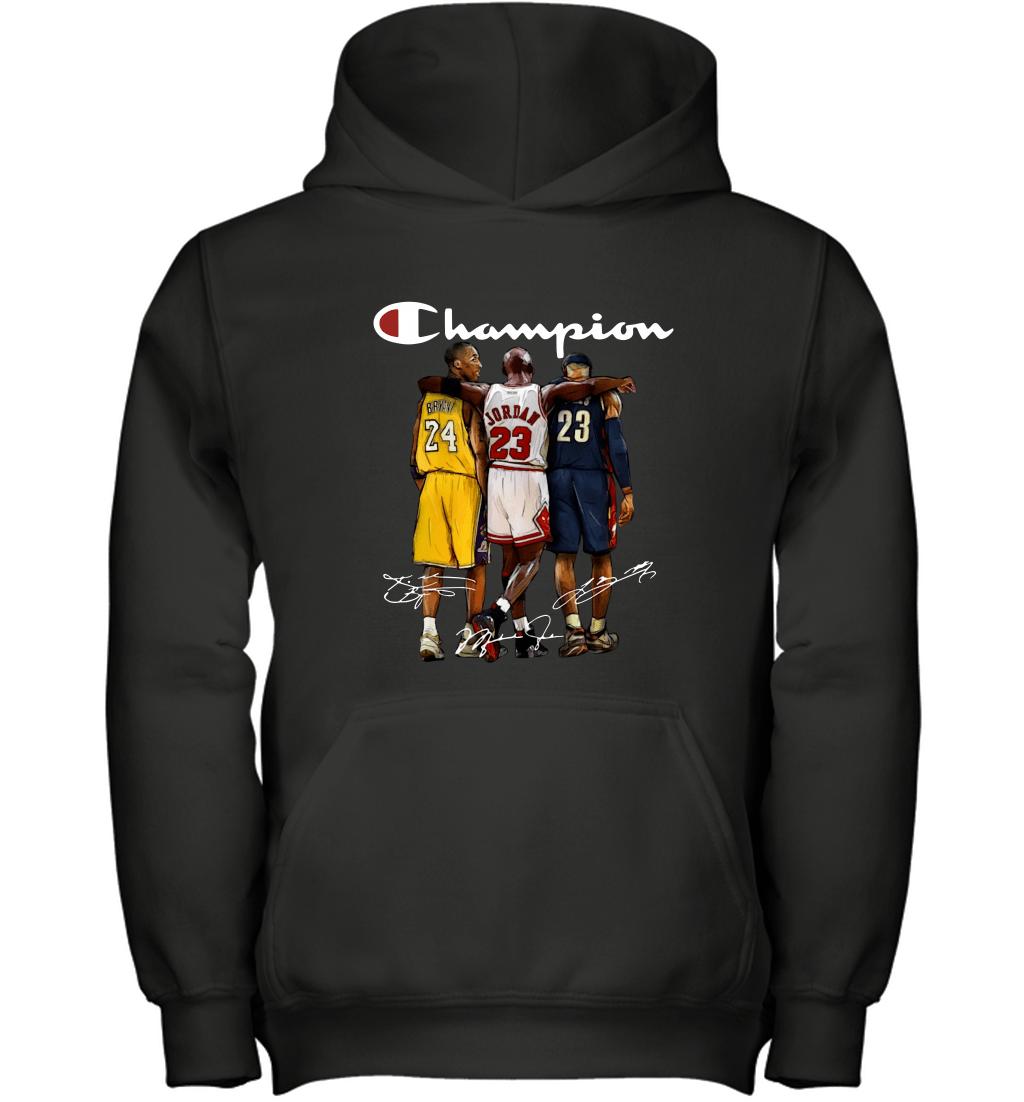 Kobe Bryant, Michael Jordan and LeBron James Champion Youth Hoodie