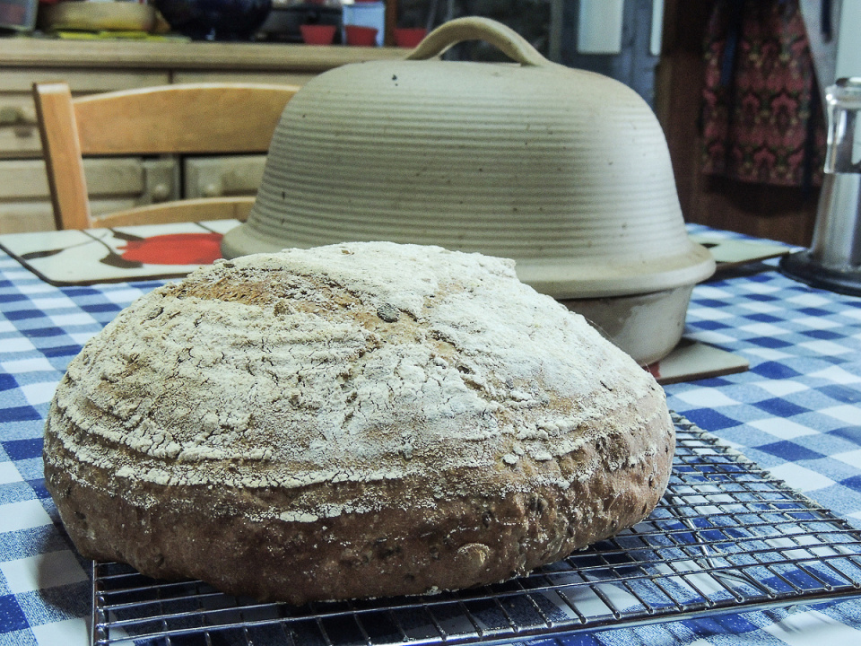 Spelt and Linseed Loaf (and that dome)