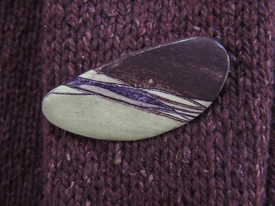 Pebble Brooch
