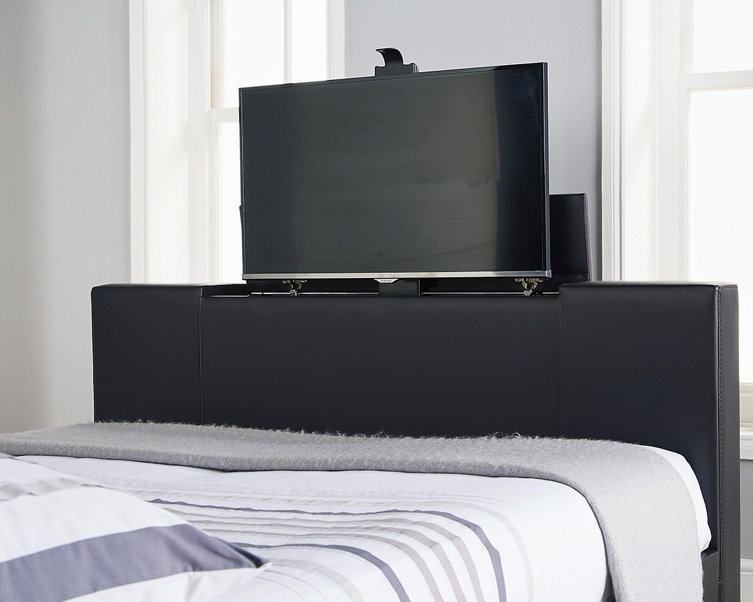 Nottingham Black King Size Tv Bed Frame