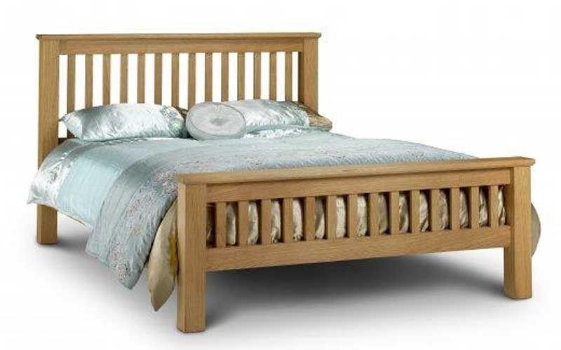 amsterdam oak king size bed frame