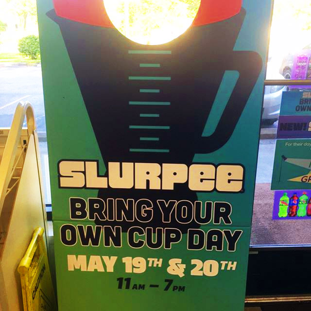 7-Eleven Coupon May 2017 Bring your own cup day for slurpees the 19th & 20th at 7-Eleven