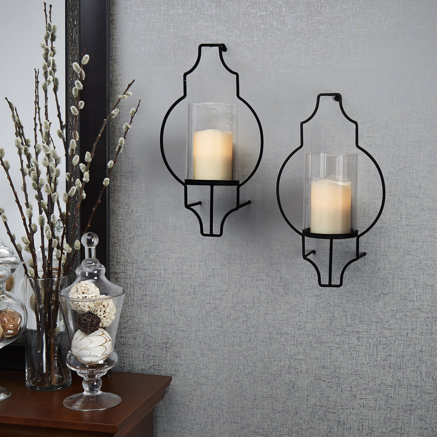 Lights.com | Flameless Candles | Pillar Candles ... on Wall Mounted Candle Sconce id=48713