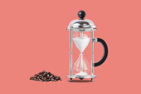 French press hourglass