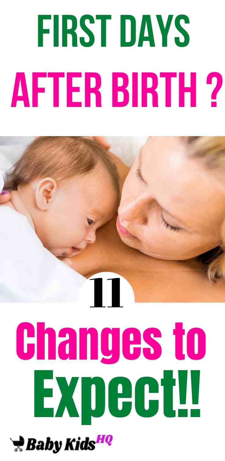 First Days After Birth: 11 Changes to Expect!! 3