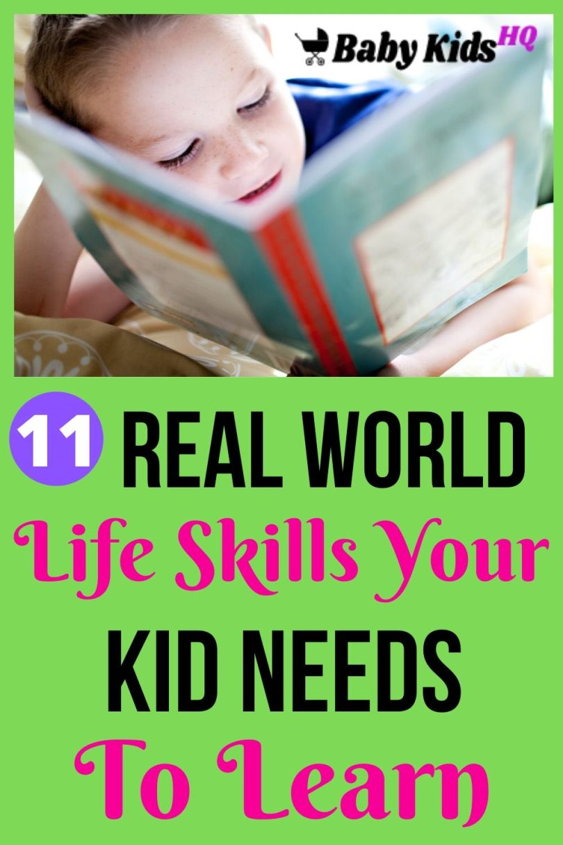 11 Real World Life Skills Your Kid Needs to Learn