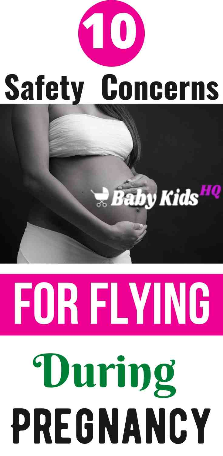 Safety is one of the big concerns during pregnancy and there are so many safety concerns that will pop up when thinking about traveling by plane that you would have not given a second thought about before.These are the top ten air travel safety concerns pregnant women have, and also find some helpful information and advice. #travelbyplane #pregnancytips #babycare