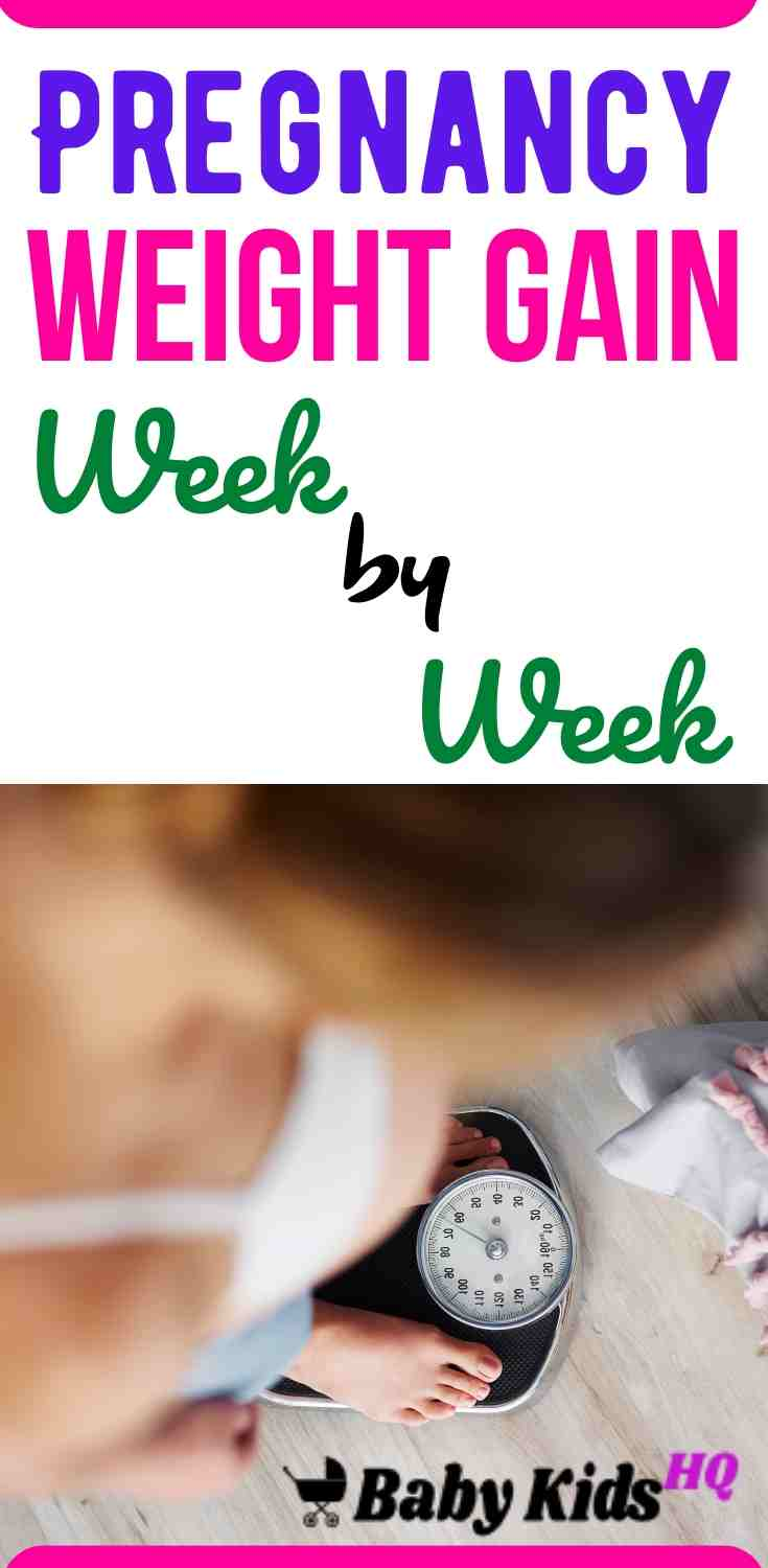 Pregnancy Weight Gain Week By Week