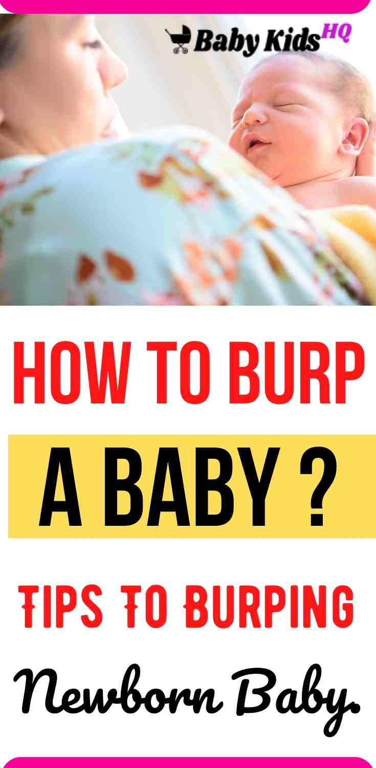 Here's a quick guide to one important aspect of feeding – burping newborn baby. Burping helps to get rid of some of the air that babies tend to swallow during feeding. Here are few newborn burp tips incase your baby won't burp. #breastfeedingtips #breastfeeding #newmom #newmomtips