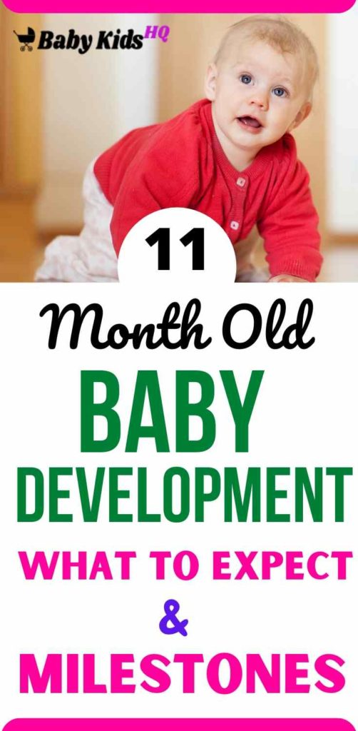 11 Month Old Baby Development:- Only one month shy of his first birthday, your baby is no longer a helpless infant who can't do anything without you.Your baby now understands simple instructions. Words and word-like sounds are now spilling out of your baby and he's able to use them meaningfully. As the frontal lobes of his brain continue to develop, so does his ability to reason and speak.
