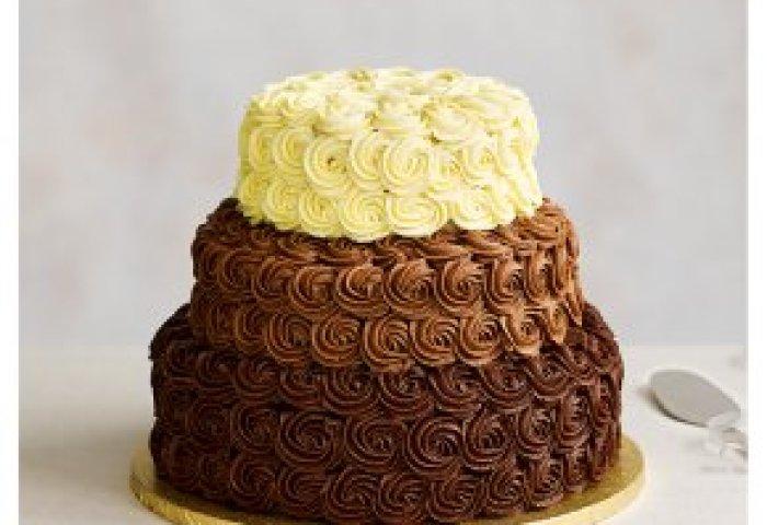 Triple Chocolate Heaven 3 Tier Wedding Cake Dark Chocolate Base