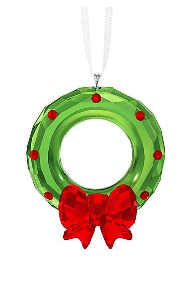 Swarovski Crystal 2018 Christmas Wreath Crystal Ornament
