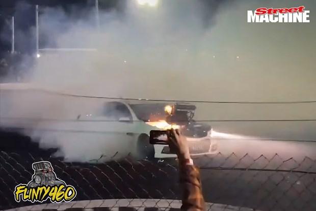 Sydney Dragway Good Fryday Burnouts Video