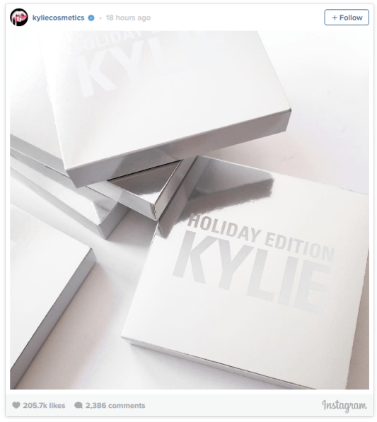 Image result for kylie cosmetics christmas