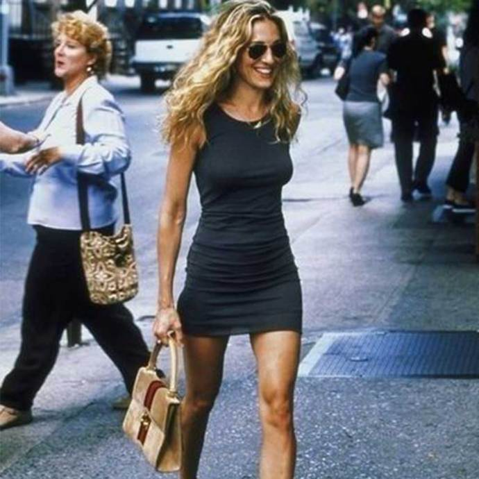 **The good**   Carrie at her best! Here, she's striding through NYC with the ease of someone who's fresh from a getaway at the Hamptons.