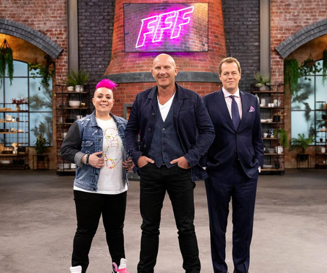 Anna has putting Aussie home chefs to the challenge as a judge on Family Food Fight. (Image: Nine Network)