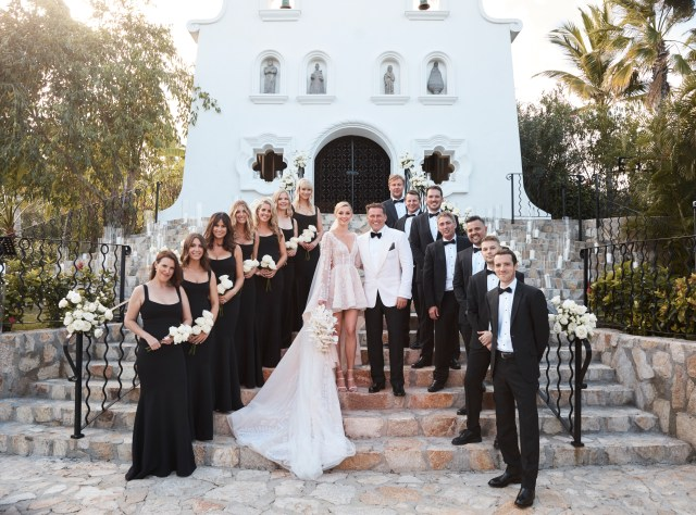 The newlyweds with their bridal party - congrats! (Source: Supplied)