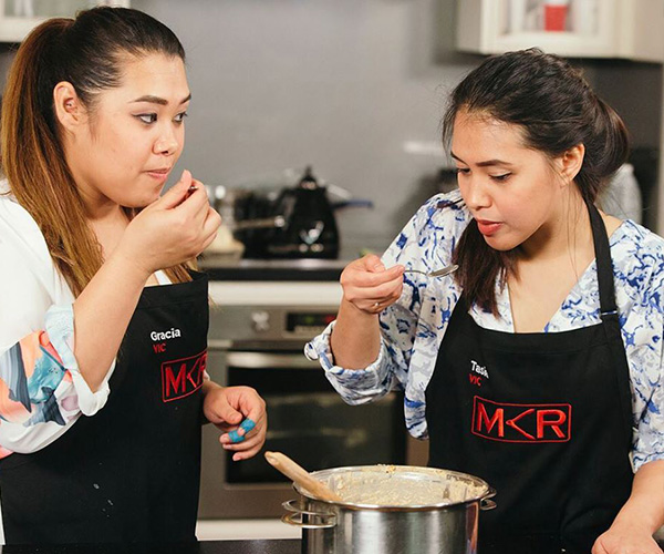 'What do you mean you've never cooked that dish before?!' (Image: Instagram @mykitchenrules)
