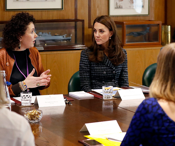 Duchess Catherine, who has long been an advocate for mental health support, particularly among youth, spoke at the Mental Health in Education conference and attended a roundtable discussion. (Image: Getty)