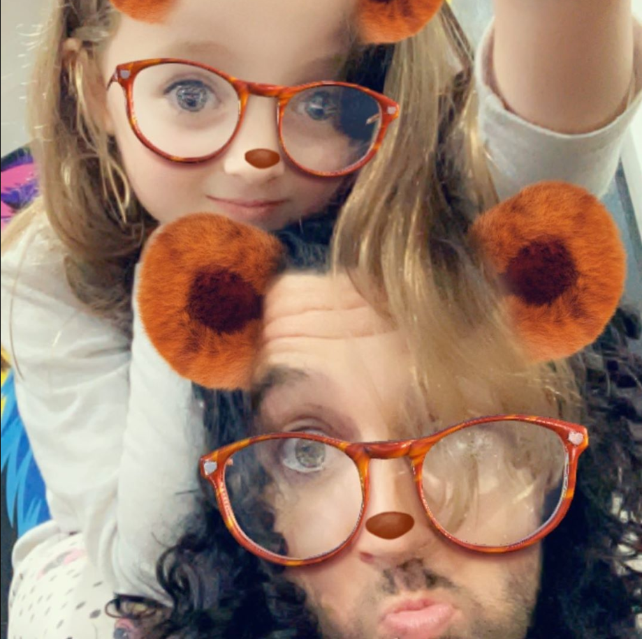 Doting dad! Lee regularly shares snaps of his adorable daughter Blaize.