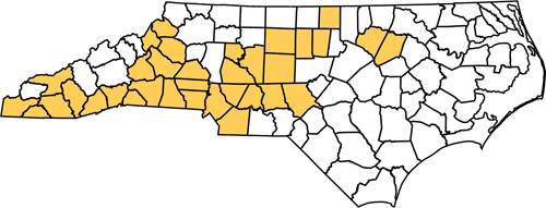 North Carolina The Golden State Our State Magazine - Map of nc counties
