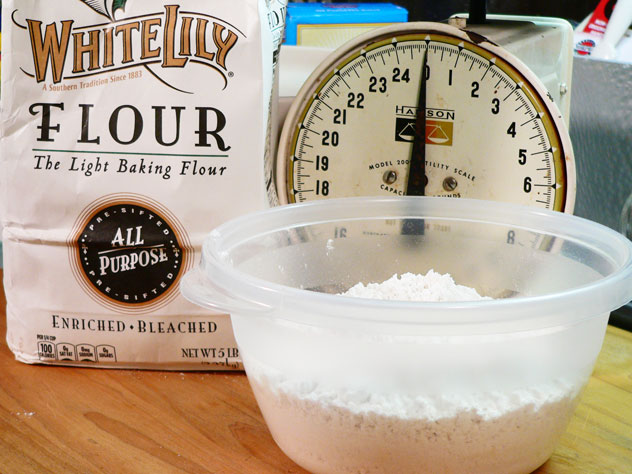 To Make Your Own Cake Flour: I started by weighing out one pound of All-To Make Your Own Cake Flour: I started by weighing out one pound of All-Purpose Flour. You can buy Cake Flour straight off the shelf in your favorite grocery store, but I decided to make my own, and show you how to do the same. If you decide to use purchased cake flour, you can skip on down a few steps to where we sift the Powdered Sugar.
