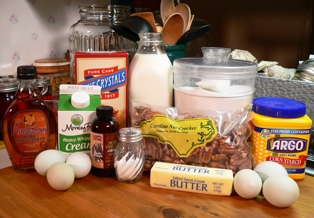 Homemade butter pecan ice cream: You'll need these ingredients.